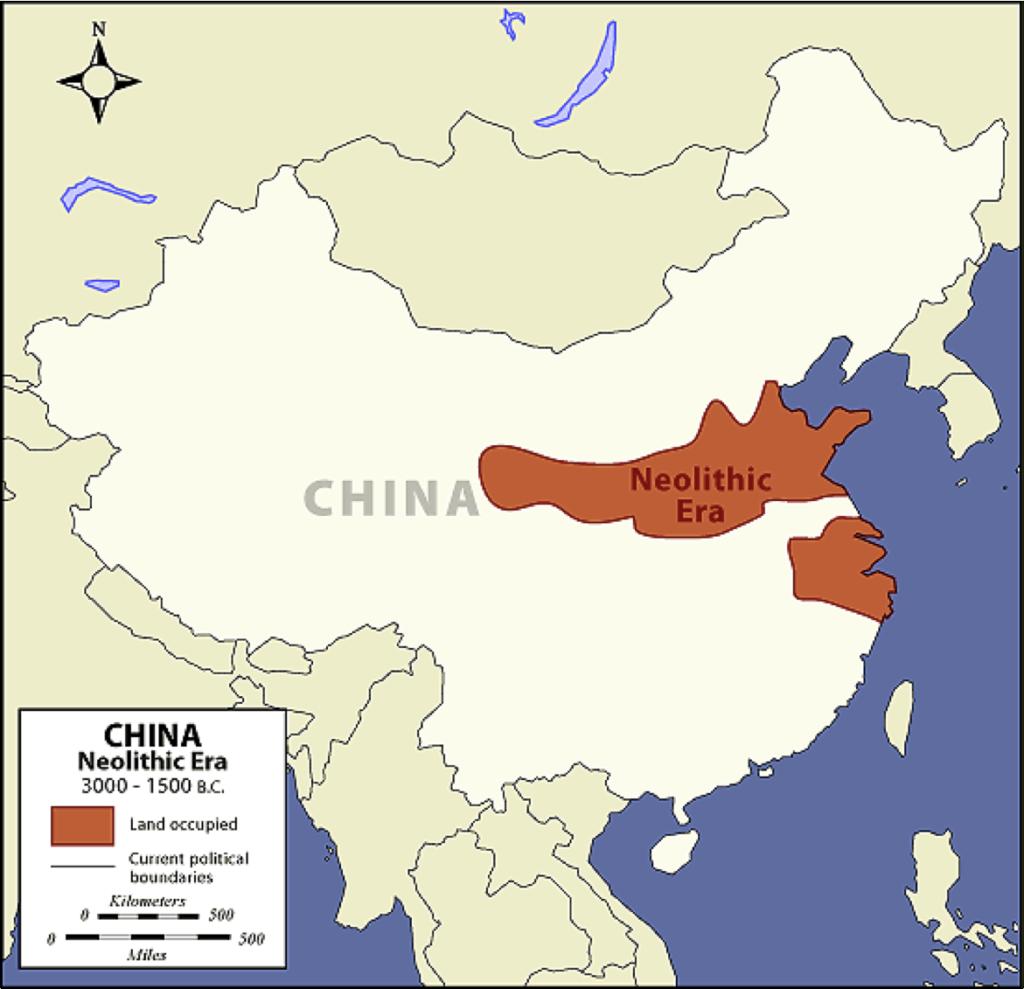 الموقع الجغرافي للحضارة الصينية القديمة