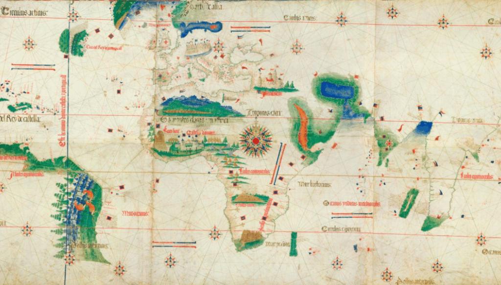 الخريطة الناتجة عن معاهدة تورديسيلاس