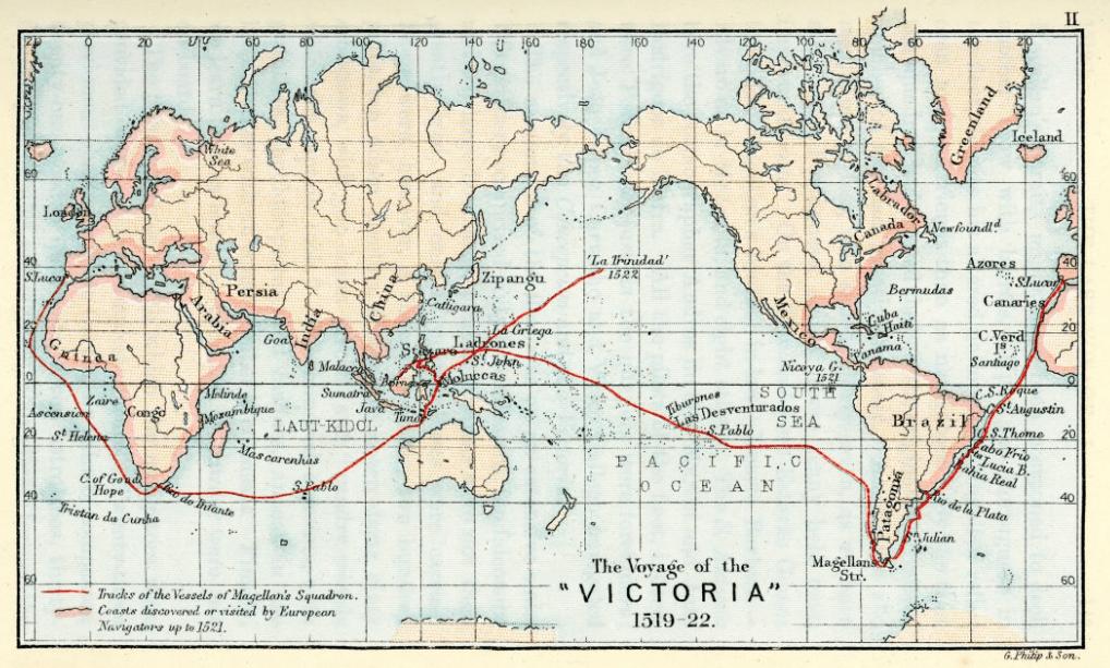 طريق رحلة ماجلان الاستكشافية