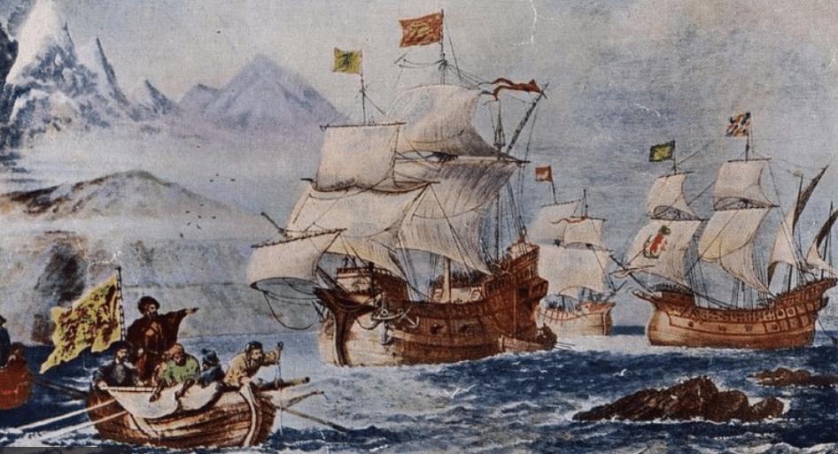 الرحالة فرناندو ماجلان وطاقمه أول من يبحر في المحيط الهادي