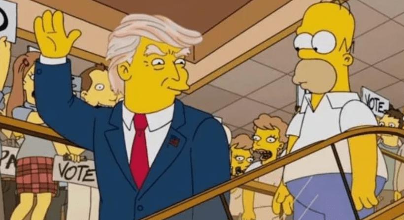 تنبؤات مسلسل سيمبسون بأن دونالد ترامب سيصبح رئيسًا لأمريكا في سنة 2017