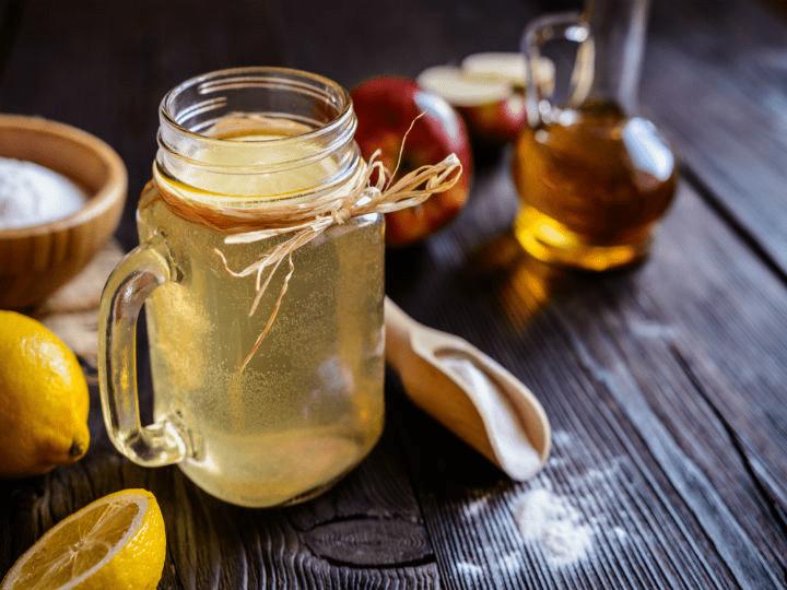 فوائد شرب خل التفاح مع الماء قبل النوم :
