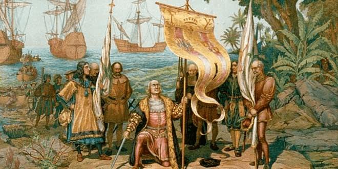 اكتشاف كريستوفر كولومبوس لأمريكا